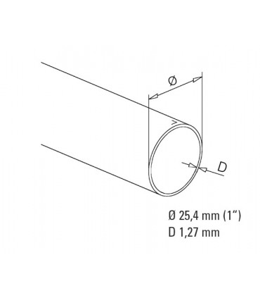Tube bronze diamètre 25.4 mm