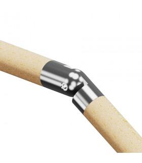 Raccord de liaison angle variable bois sur bois