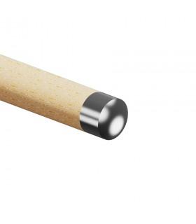 Embout de finition inox bombé pour main courante bois