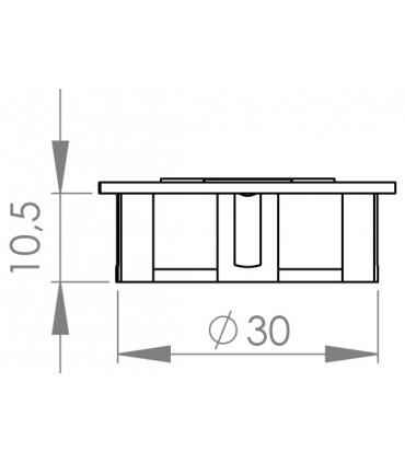 Charnière à volet double ouverture 90°