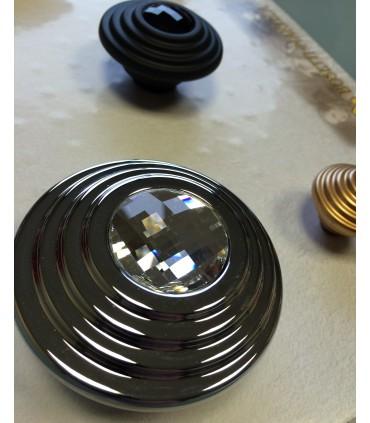 Bouton de meuble série Twist cristal Swarovski par Bosseti Marella