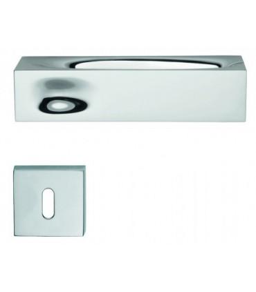 Poignée de porte INTAKE IN14 chromé avec rosace clé L