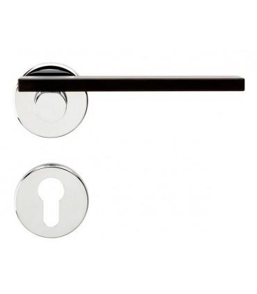 Poignée de porte Minima MN12 chrome brillant et noir