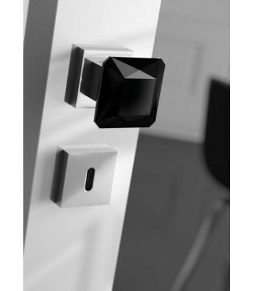 Paire de poignée bouton Diamond Q noir par Arius home