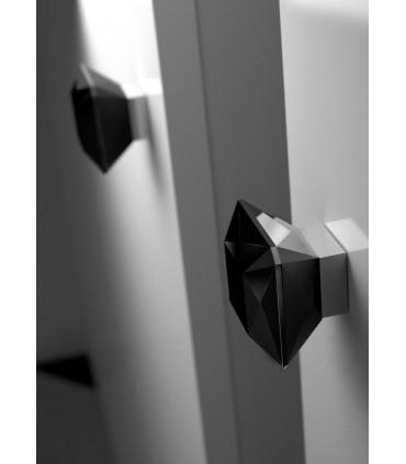 Bouton de meuble en verre noir taillé Diamant par Arius
