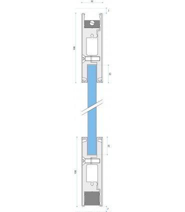 Plinthe haute et basse pour porte sécurit en verre