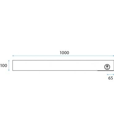 Plinthe basse lg.1000 mm pour porte sécurit en verre