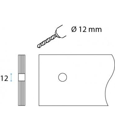 Poignée bouton disque inox brossé