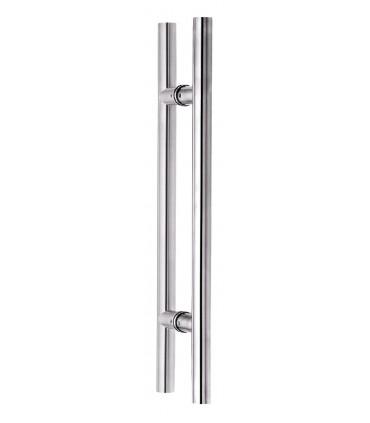 Paire de poignée bâton maréchal 25 mm pour porte en verre