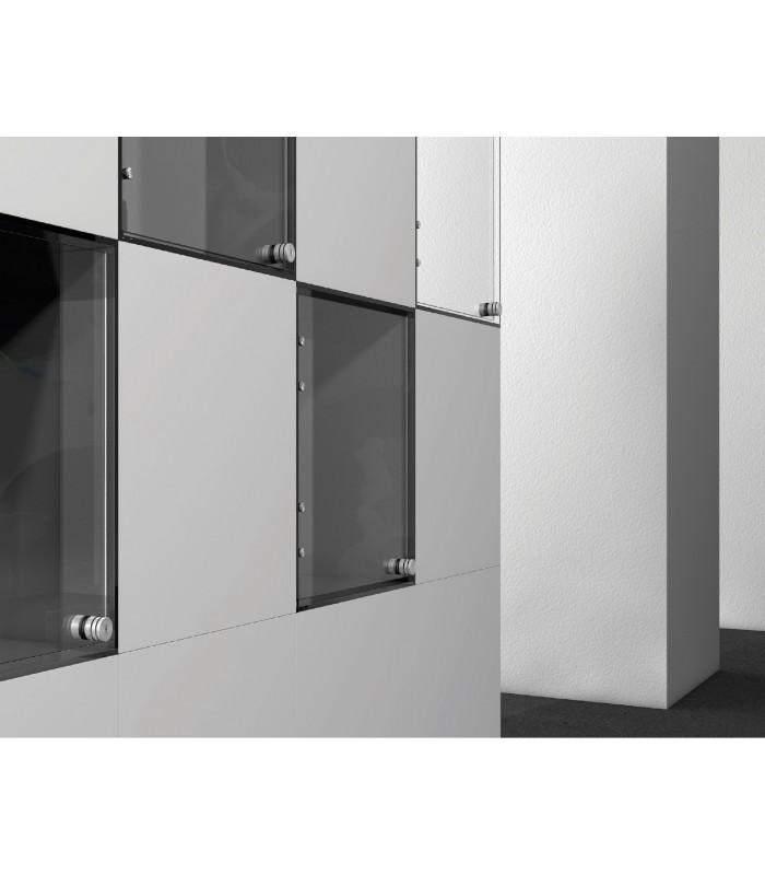 Serrure bouton de porte avec p ne coulissant cylindre - Bouton de porte en verre ...