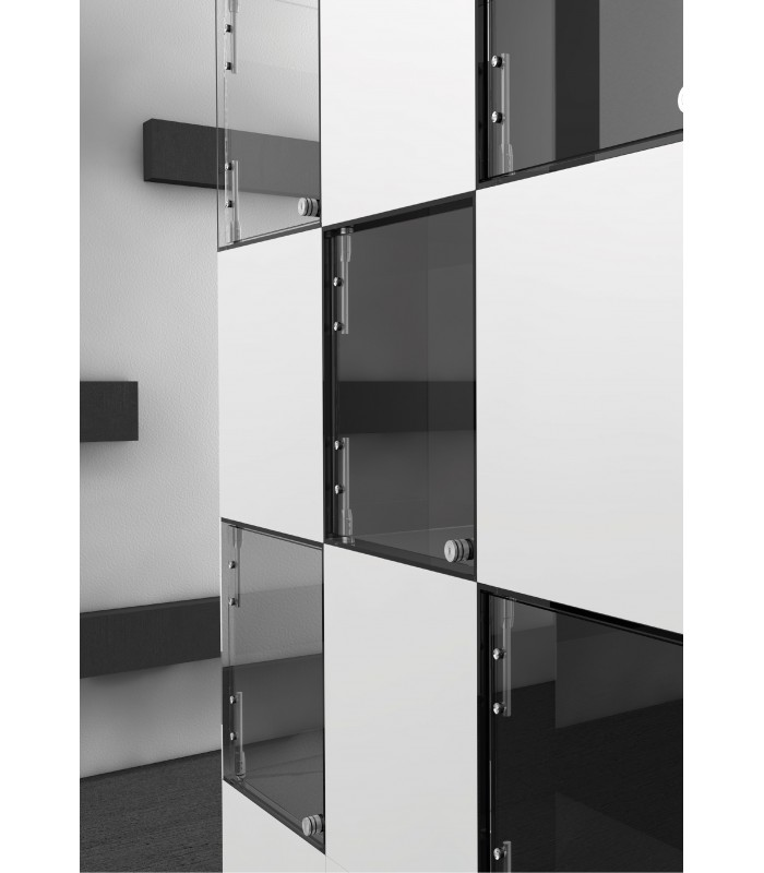 charni re verticale en inox pour porte de vitrine en verre igs d co. Black Bedroom Furniture Sets. Home Design Ideas
