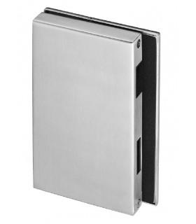 Gâche rectangulaire verticale pour porte en verre
