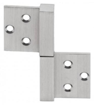 Charnière inox réversible série square 14 mm 20 kg