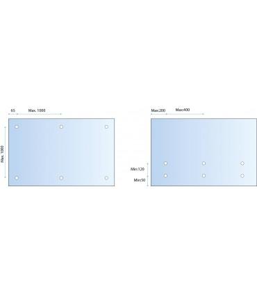 Fixation ponctuelle Ø 50 mm pour garde-corps nez de dalle en verre