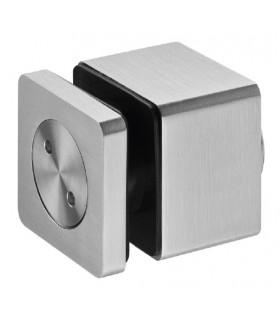 Fixation ponctuelle ajustable carrée 50 mm pour garde-corps en verre