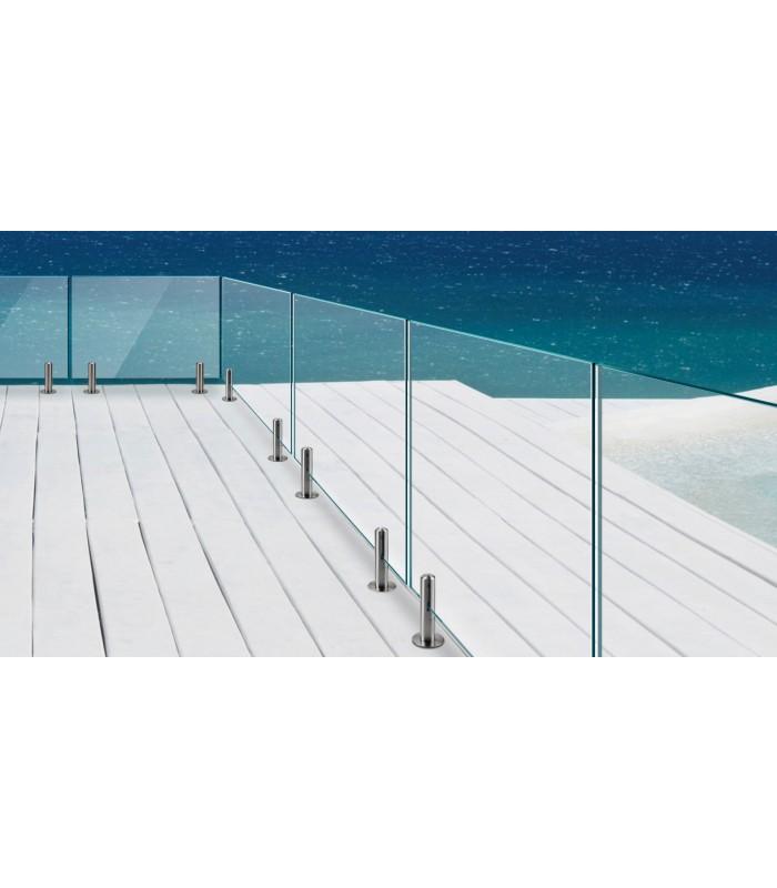 pince verre en inox pour garde corps de terrasse. Black Bedroom Furniture Sets. Home Design Ideas