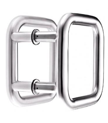 Paire de poignée tubulaire forme carrée