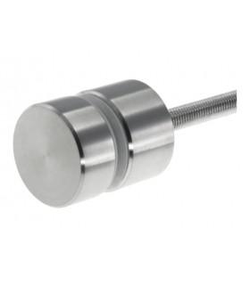 Fixation ponctuelle ronde Ø 50 mm pour garde-corps nez de dalle en verre