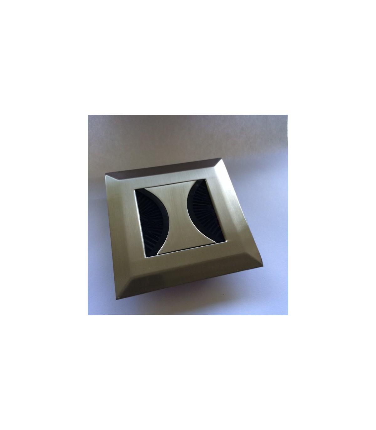 Passage De Cable Dans Cloison opercule passe-câbles en zamak forme carré série butterfly.