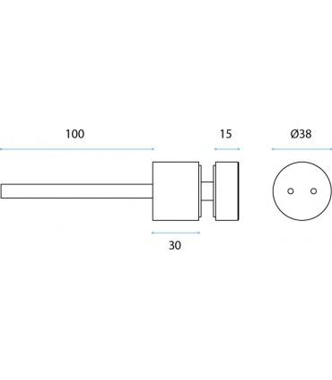 Fixation ponctuelle ronde Ø 38 mm pour garde-corps nez de dalle en verre