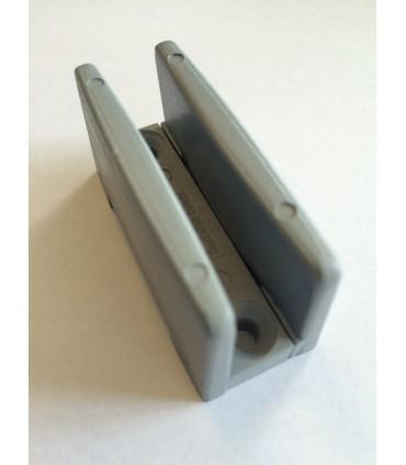 Guide sol réglable en nylon pour porte verre d'épaisseur 8 à 16 mm