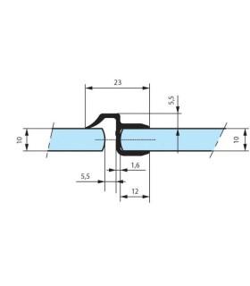 Joint d'étanchéité pour cabine de douche en verre