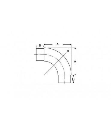 Raccord 90° pour tube Ø 42.4 x 2 mm