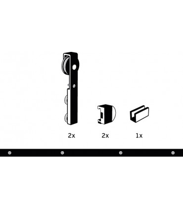 Kit Charriot System pour porte coulissante en verre
