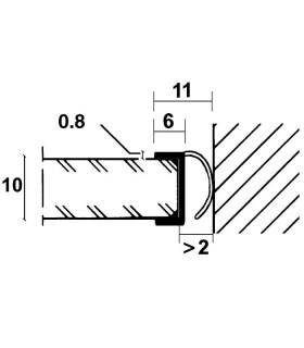 Profil de connexion en h pour panneau en verre igs d co - Joint d etancheite salle de bain ...