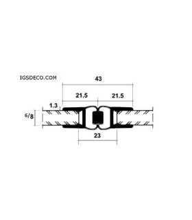 Joint d'étanchéité magnétique 180°