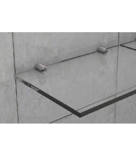 Support inox rond pour verre épaisseur 6 ou 8 mm