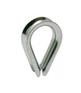 Cosse-cœur en inox 316 pour câble diamètre 3, 4, 5 ou 6 mm