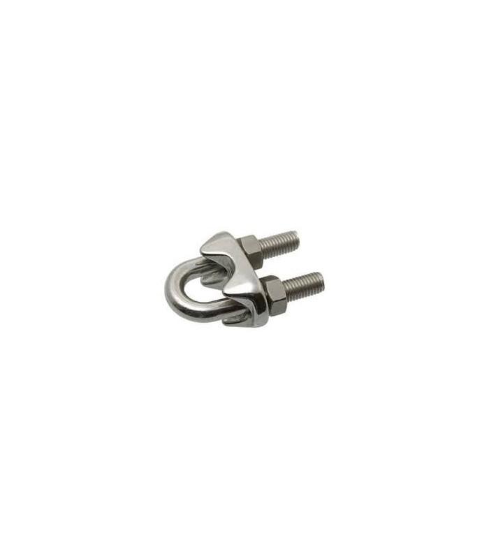 Serre câble étrier inox 316 pour Ø 3, 4, 5 ou 6 mm