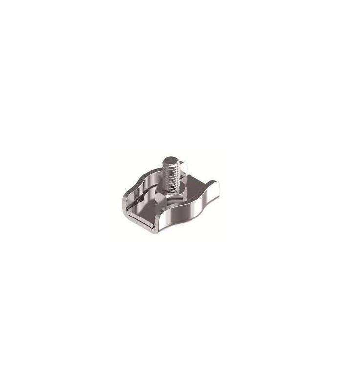 Serre-câble plat en inox 316 diamètre 4 à 6 mm