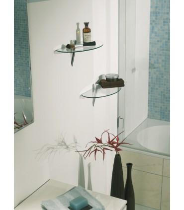 Support d'étagère série Archia chromé brillant