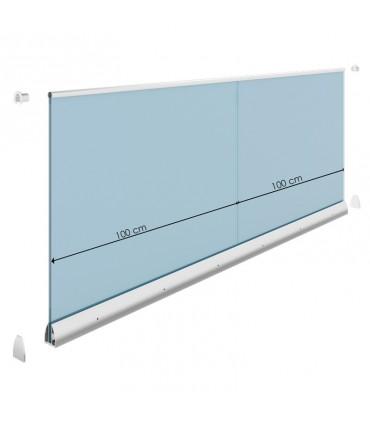 Profil Premium M300 pour verre d'épaisseur 10.76 à 12.76 mm