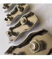 Serre-câble plat double en inox 316 diamètre 4 à 8 mm