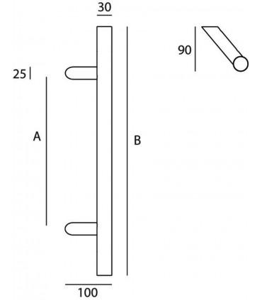 Poignée tubulaire série 124