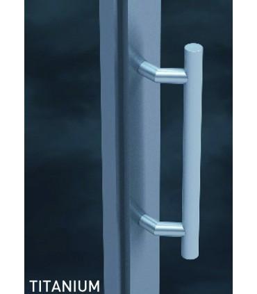Paire de poignée tubulaire série 125 en inox revêtu de Titanium