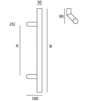 Poignée tubulaire série 125 technique