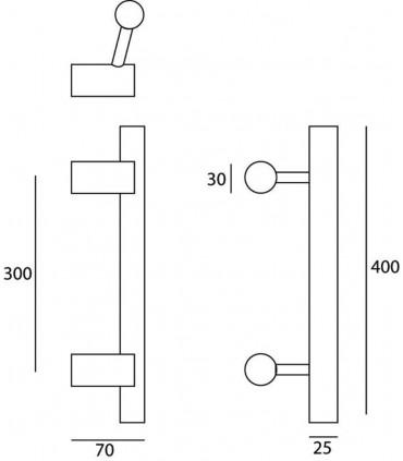 Poignée tublaire série 127 technique