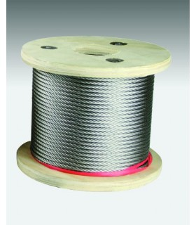 Câble inox 316 extra souple (7x19) diamètre 1.5 à 8 mm
