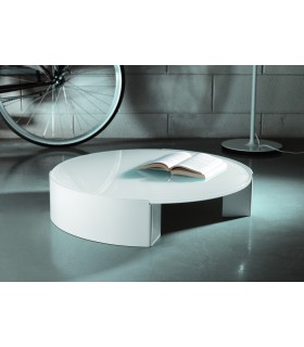 Table basse ronde Moon par Motusmentis