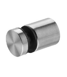 Fixation ponctuelle en inox Ø 19, 25 ou 32 mm pour épaisseur 5 à 12 mm