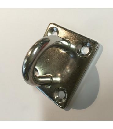Pontet inox A2 sur platine rectangulaire