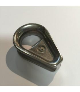 Cosse-cœur avec renfort soudé en inox 316 pour câble diamètre 6 mm