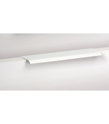 Poignée tirette série Curve blanc mat