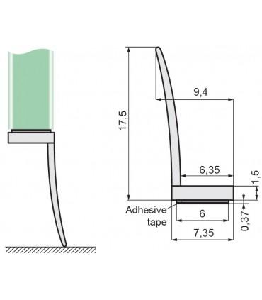 Joint d'étanchéité grande lèvre latérale ADH02 à coller