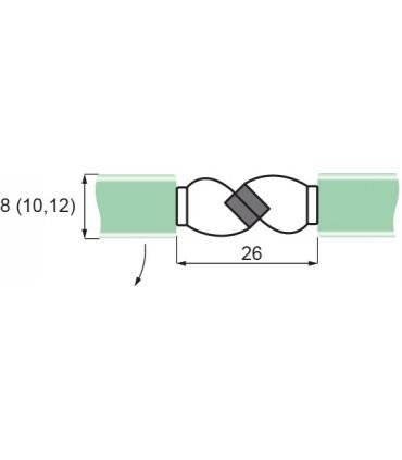 Joint d'étanchéité magnétique 180° à coller