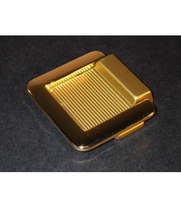 Poignée tirette avec anse doré brillant 35 x 35 mm